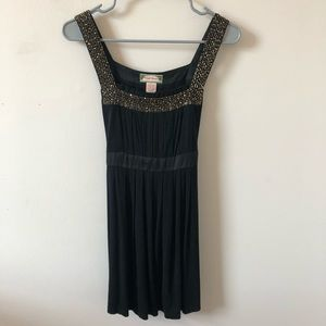 Flying Tomato Black Tank with Gold Beading- Size L